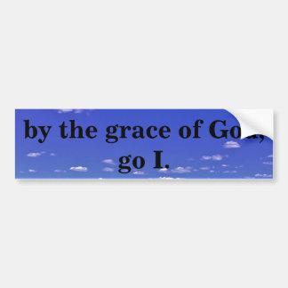 BY THE GRACE OF GOD BUMPER STICKER