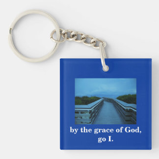 BY THE GRACE OF GOD Double-Sided SQUARE ACRYLIC KEYCHAIN