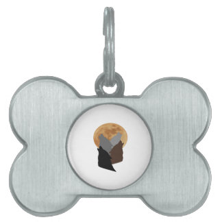 By the Light of the Moon Pet Name Tag