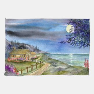 By The Light of The Silvery Moon Hand Towels