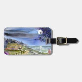By the light of the silvery moon luggage tag