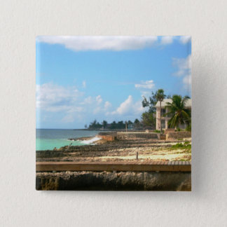 By The Ocean 2 Inch Square Button