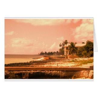 By The Ocean (Peach Tone) Card