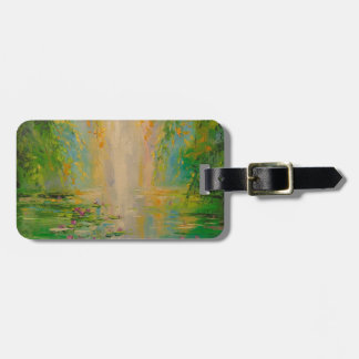 By the pond luggage tag