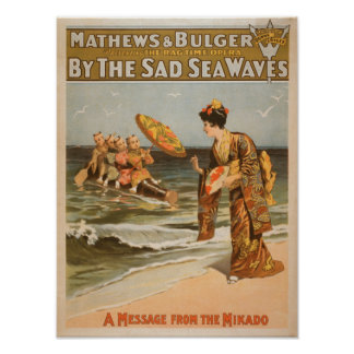 """By the Sad Sea Waves """"Message from Mikado"""" Poster"""