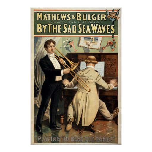 By the Sad Sea Waves Vintage Theater Print