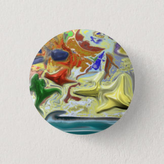 By the Sea 1 Inch Round Button