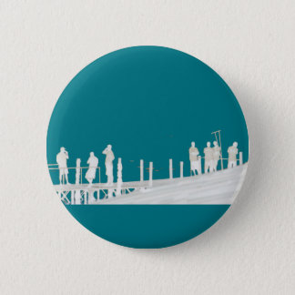 By the sea 2 inch round button