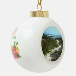 By the Sea Ceramic Ball Ornament