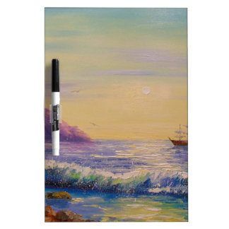 By the sea dry erase board