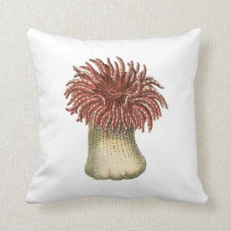 By The Sea in Coral Throw Pillow