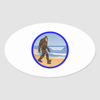 BY THE SEA OVAL STICKER