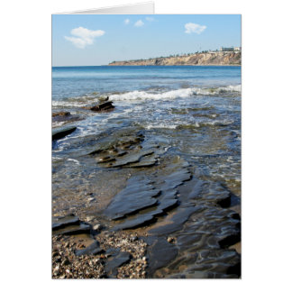 By the Sea Palos Verdes Rocks Greeting Card