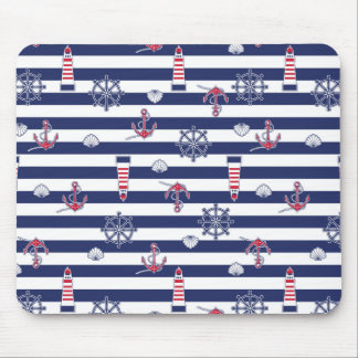 By The Sea Pattern Mouse Pad
