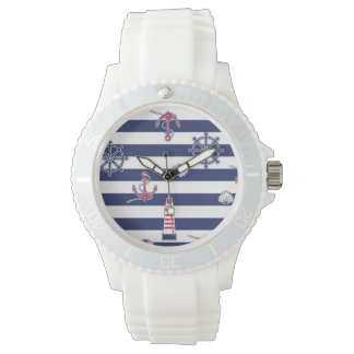 By The Sea Pattern Wrist Watch