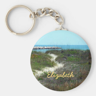 By the Sea Personalized Basic Round Button Keychain