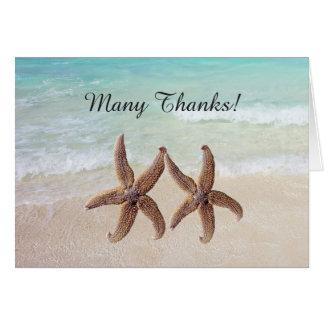 By the Sea Starfish Wedding Many Thanks Card
