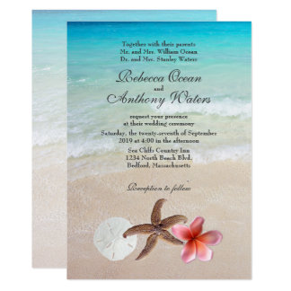 By the Sea Tropical Destination Wedding Invites