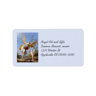 By the Seashore Angel and Child Label