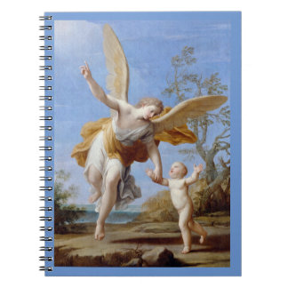 By the Seashore Angel and Child Spiral Notebook