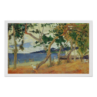 By the Seashore, Martinique, 1887 (oil on canvas) Poster