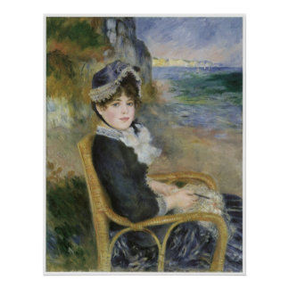 By the Seashore, Pierre-Auguste Renoir Poster