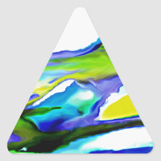 By the Seashore Triangle Sticker