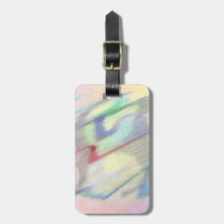 By the Seaside Colorfully Abstract Luggage Tag