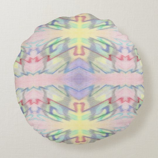 By the Seaside Colourful Double-Sided Round Pillow