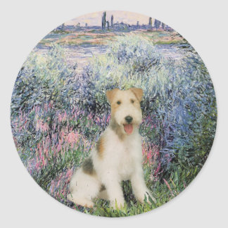 By the Seind - Wire Fox Terrier (M) Classic Round Sticker