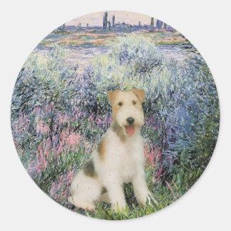 By the Seind - Wire Fox Terrier (M) Round Sticker