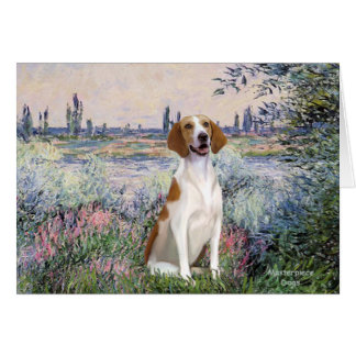 By the Seine - American Fox Hound Card
