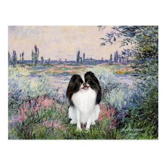 By the Seine - Japanese Chin 3 Postcard