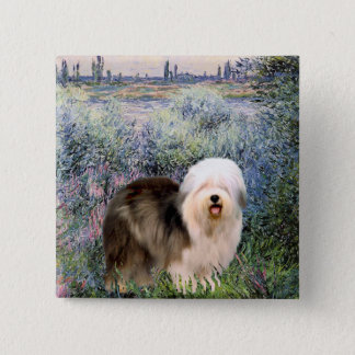 By the Seine - Old English 12 2 Inch Square Button