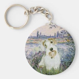 By the Seine - Sealyham Terrier Keychain