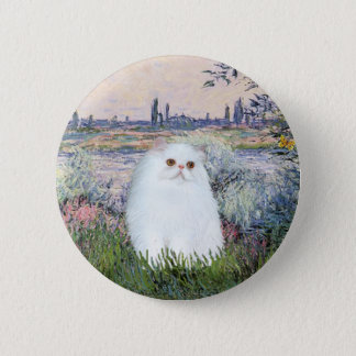 By the Seine - White Persian kitten #49 2 Inch Round Button