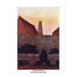 By The Townwall By Friedrich Caspar David Postcard