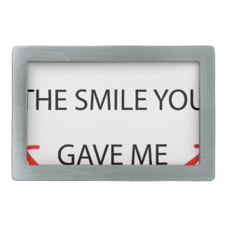 by the  way  i'm  wearing the smile you gave me.pn rectangular belt buckles