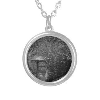 By the Wishing Well-horizontal Silver Plated Necklace