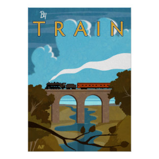 By Train Poster
