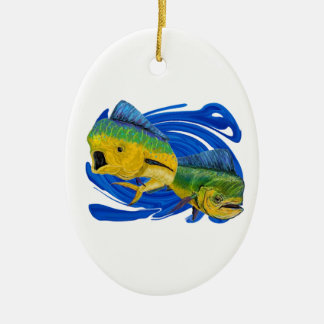 BY TWO CERAMIC ORNAMENT