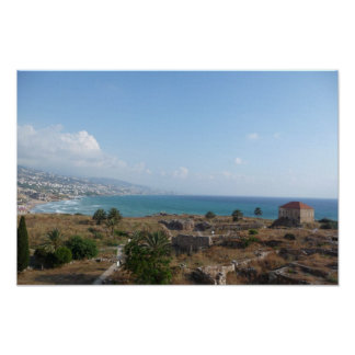 Byblos Lebanon, Ocean View Poster