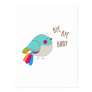 Bye Bye Birdy Postcard