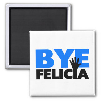 Bye Felicia Hand Wave Bold Blue Magnet