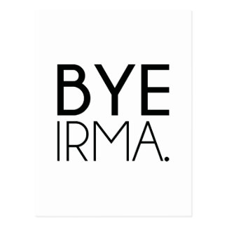 Bye Irma Postcard