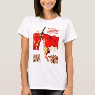 Byelorussian Revolutionary Woman T-Shirts