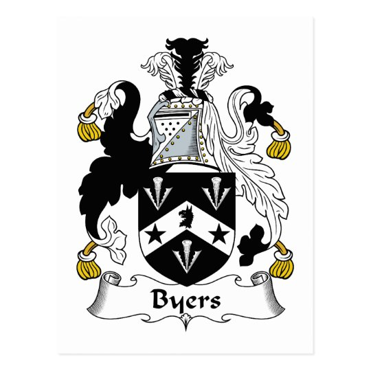 Byers Family Crest Postcard