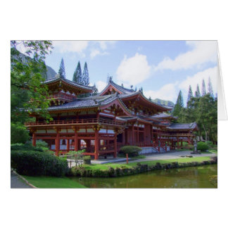 Byodo-In Temple - Hawaii Card