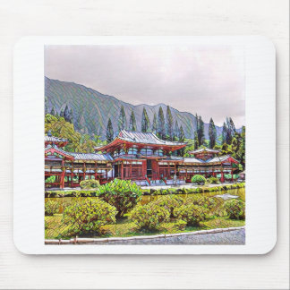 Byodo-In Temple Oahu Mouse Pad