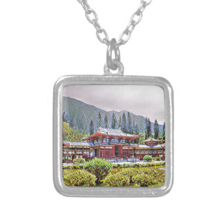 Byodo-In Temple Oahu Silver Plated Necklace